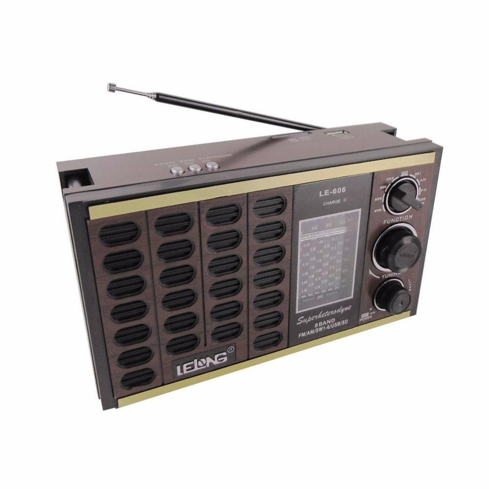85ebc12b4 Rádio Portátil Mp3 Cartão Sd Pen Drive 8 Band Radio Bi-volt - R  89 ...