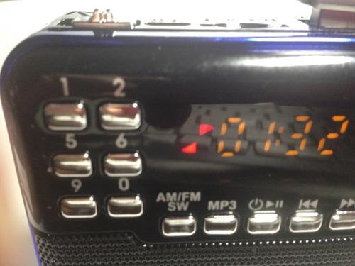 radio portatil  multibandas  recargable mp3 envio gratis
