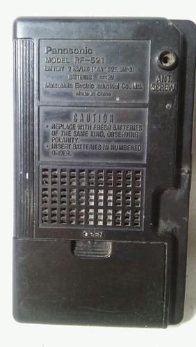radio portatil panasonic am-fm mod. rf-521 con detalles