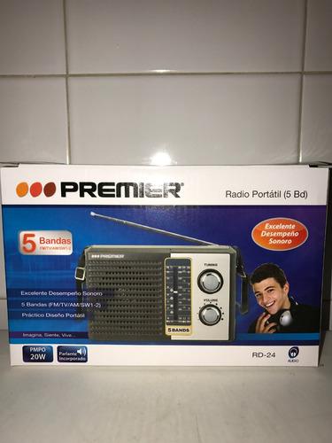 radio portatil premier 5 bandas fm am tv con garantia oferta