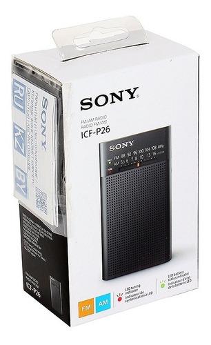 radio portatil sony icf-p26 am fm salida auricular