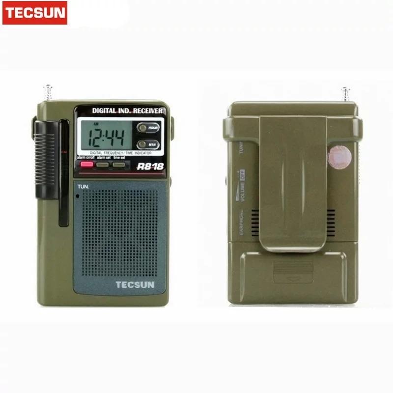 TECSUN R-818 FM//MW//SW1-6 time display Radio Receiver