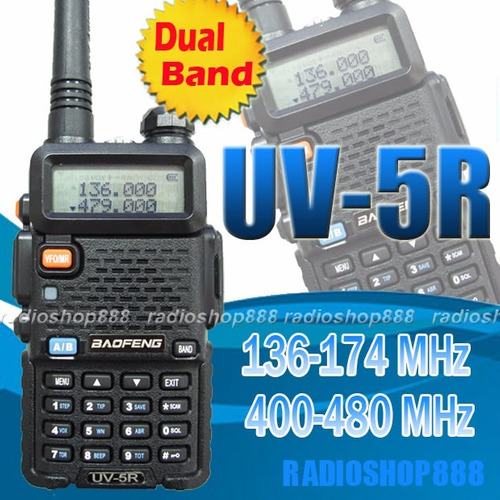radio portatil walkie talkie vhf/uhf fm baofeng 5w