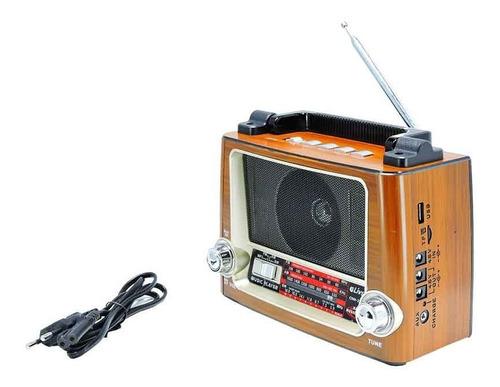 rádio recarreável com usb tf 3 bandas am fm sw com bluetooth