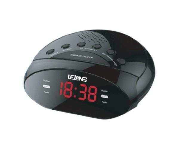 c9a85fce193 Rádio Relógio Am   Fm Despertador Com Alarme Lelong Le-614 - R  45 ...