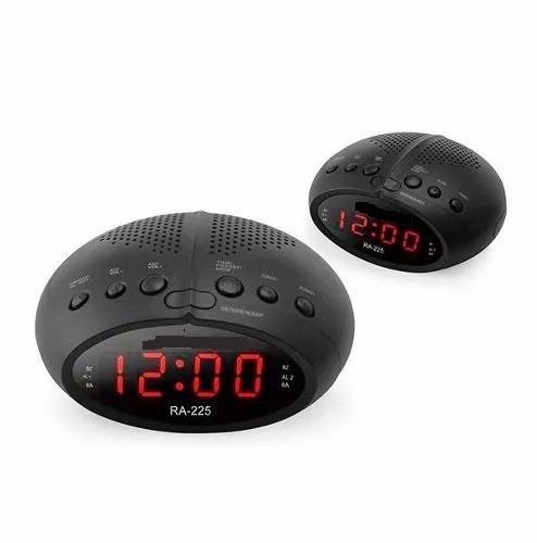 634967b190c Radio Relógio Am Fm Digital Bivolt Duplo Alarme Melhor Preço - R ...