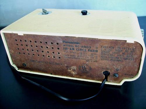radio relogio antigo de palhetas panasonic rc 6003