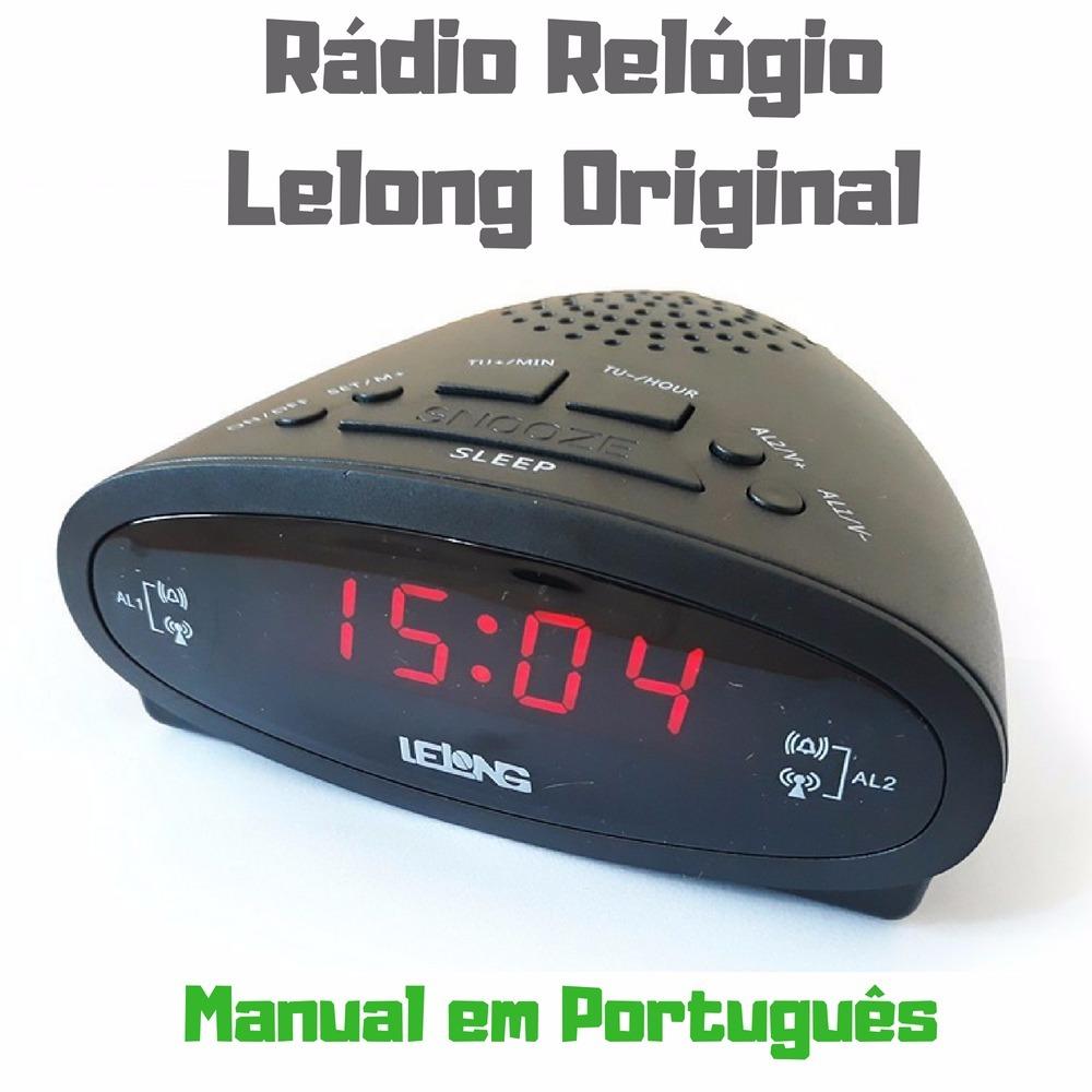 fcd09318c35 rádio relógio digital alarme duplo despertador fm original. Carregando zoom.