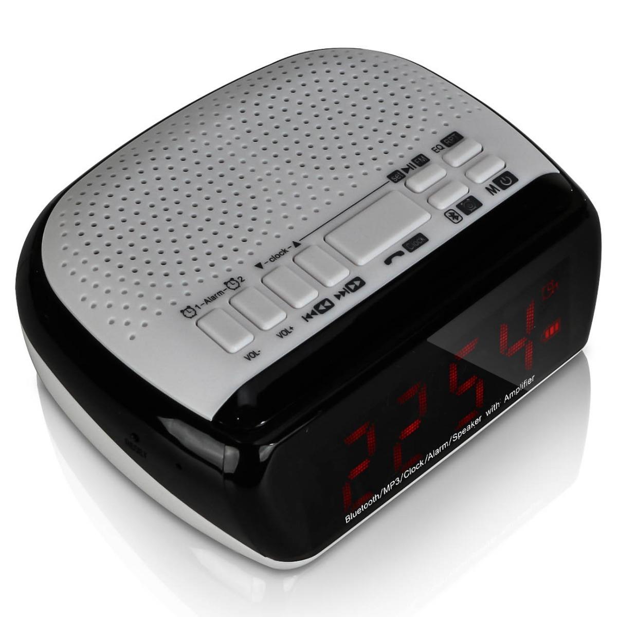 6ff8db936e5 rádio relógio digital bluetooth fm despertador alarme sd 24h. Carregando  zoom.