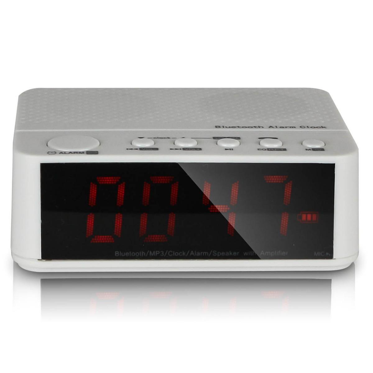8298acbaacc rádio relógio digital despertador bluetooth fm alarme sd 24h. Carregando  zoom.