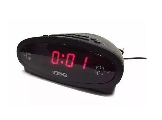 f6ffcb81b38 Radio Relogio Digital Fm Despertador Alarme Bivolt Novo - R  39