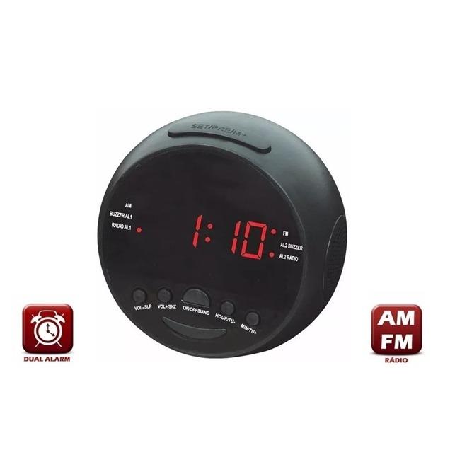cc38b4e61a5 Radio Relogio Digital Fm Despertador Duplo Alarme Bivolt - R  38