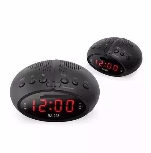 da784ee002e Radio Relogio Digital Fm Despertador Duplo Alarme Bivolt - R  74