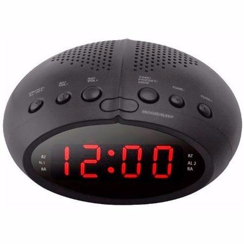 b60278f3b77 Radio Relogio Digital Fm Despertador Duplo Alarme Bivolt - R  108