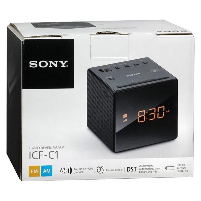 577b3bb4e2e Radio Relogio Digital Sony Icf-c1 Preta 110v - R  205