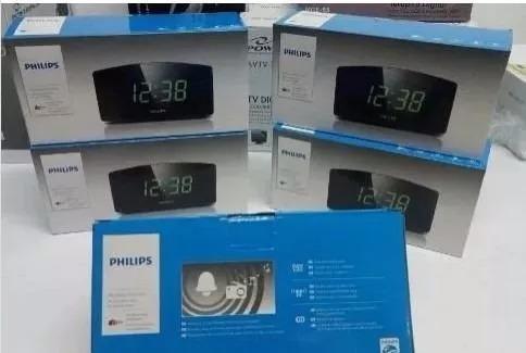 radio relogio philips despertador alarme bivolt 110/220v