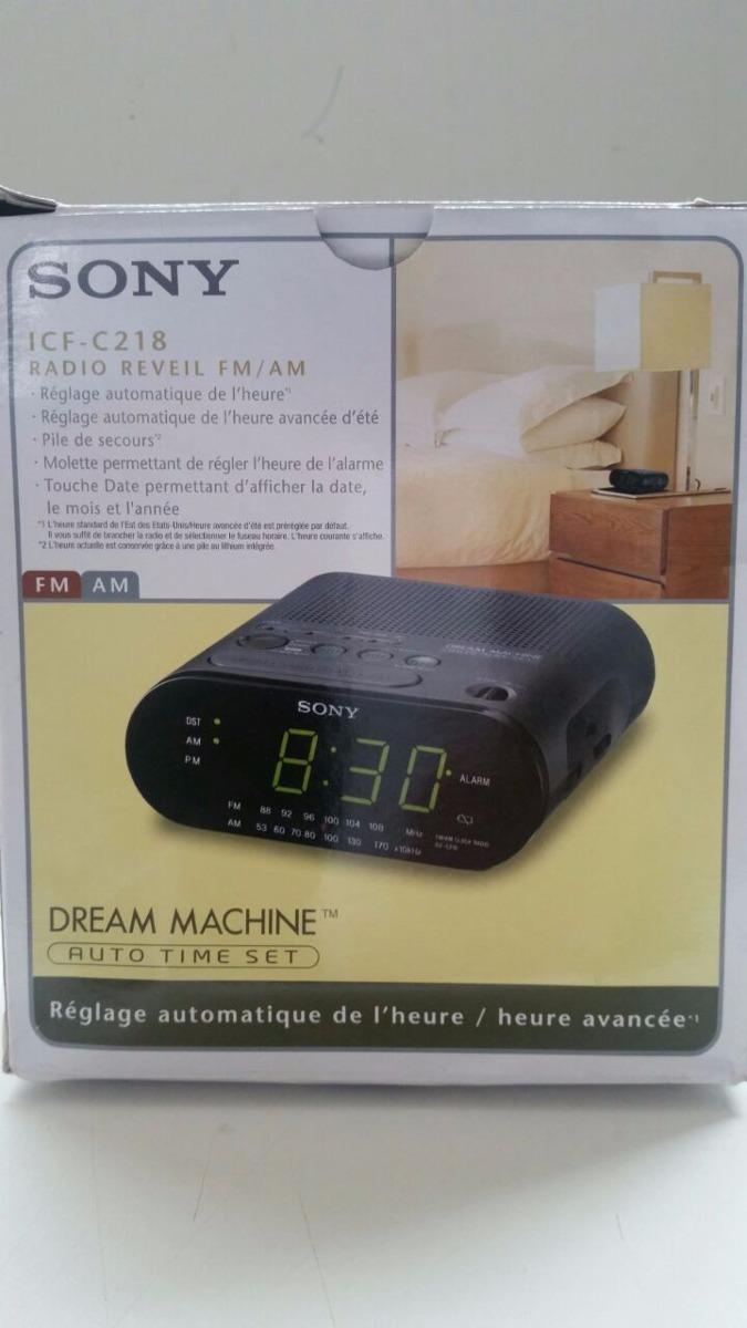 2733e314008 Rádio Relógio Sony Dream Machine Clock Radio Icf - C218 - R  139