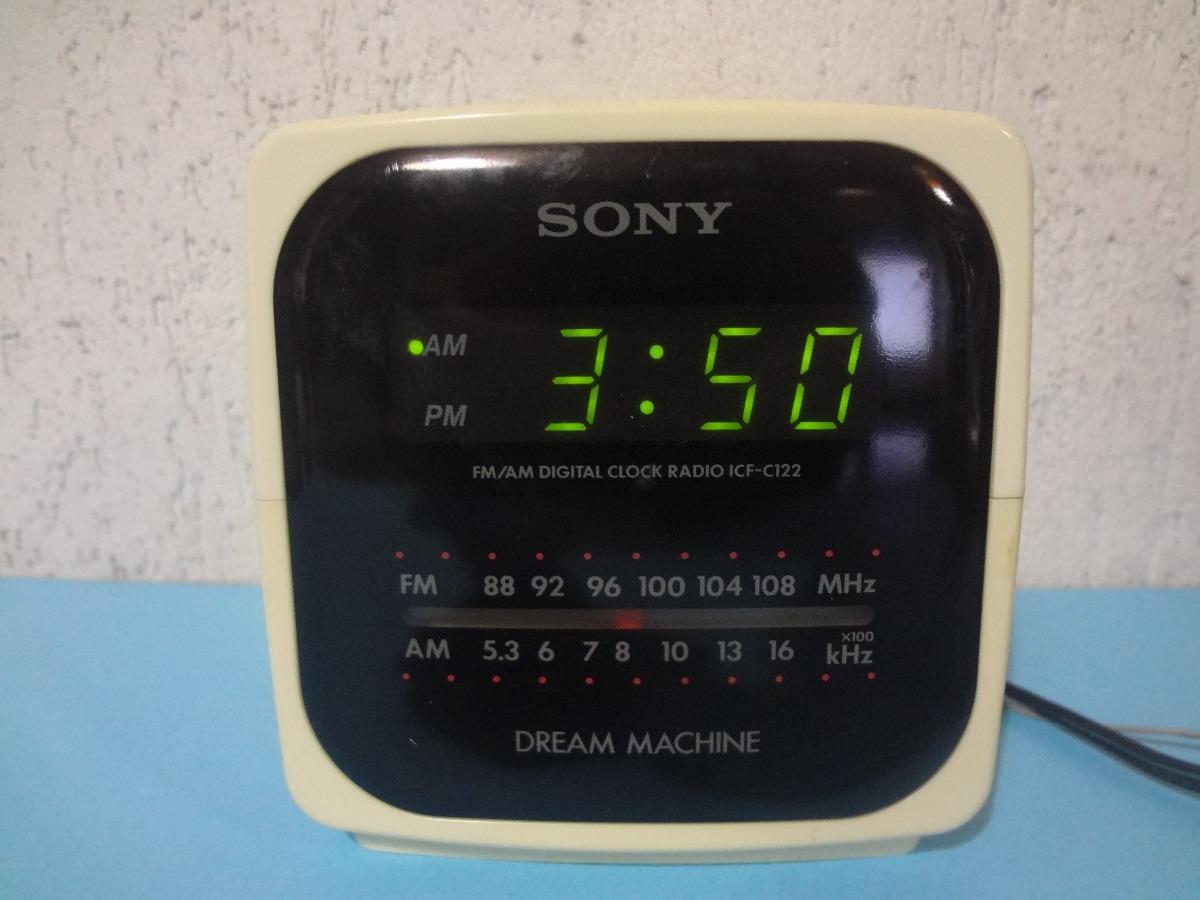 2ea300b23f0 Rádio Relógio Sony Icf- 122 Am   Fm   Relógio - R  89
