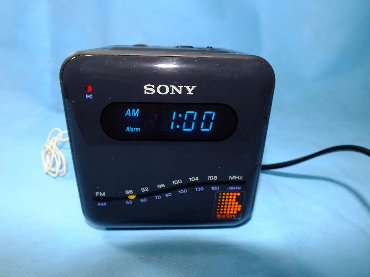 47b6dbcd039 Rádio Relógio Sony Icf-c101w - Digimatic - 110 220v- Vintage - R ...