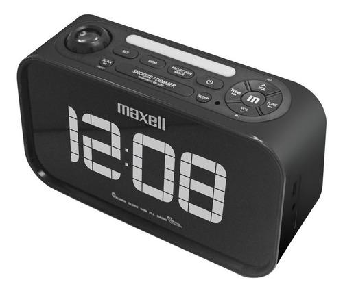 radio reloj despertador bluetooth con proyector led maxell