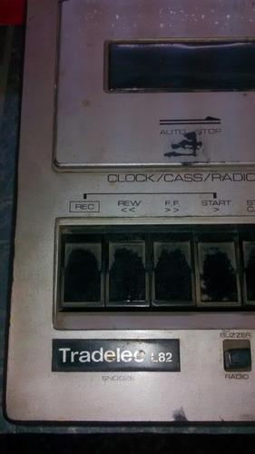 radio reloj despertador con am fm y pasacassette