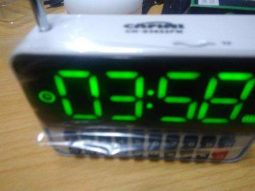 radio reloj despertador fm ,micro sd,usb envio a  provincia