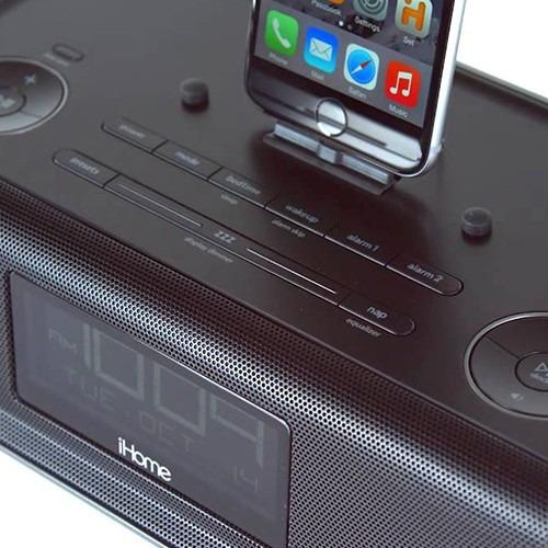radio reloj despertador ihome idl43 lighting usb iphone ipod