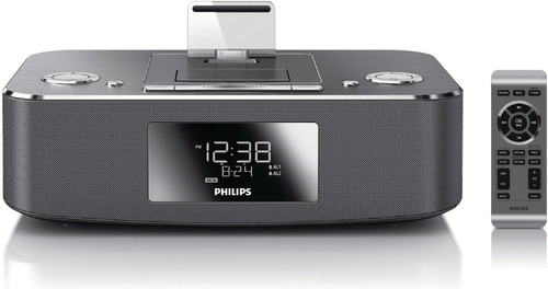radio reloj despertador iphone ipad estereo philips dc390/37