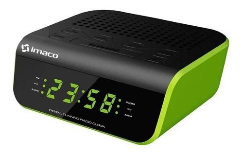 radio reloj despertador verde imaco cr2060v