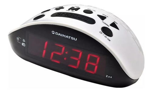 radio reloj digital daihatsu d-rr17 am fm blanco