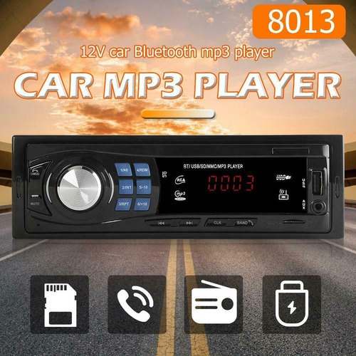 radio reproductor carro bluetooth mp3 usb aux fm 45w rt183