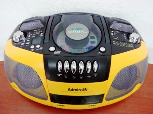 radio reproductor cassette  cd mp3 admiral modelo cdr8801