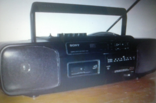 radio reproductor cd/ casette sony