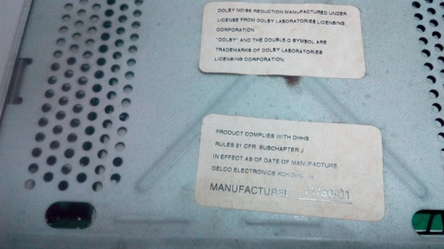 radio reproductor original chevrolet trailblazer