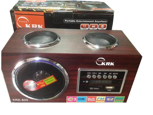 radio reproductor portátil krk recargable fm usb pendrive