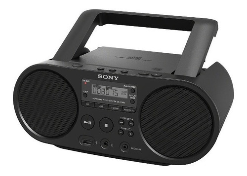 radio reproductor sony boombox fm de cd y usb - zs-ps50