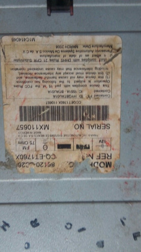 radio reproductor toyota tundra sequoia 2009 - 2010