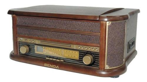 rádio retrô benoá tr-w107 am fm cd usb toca disco