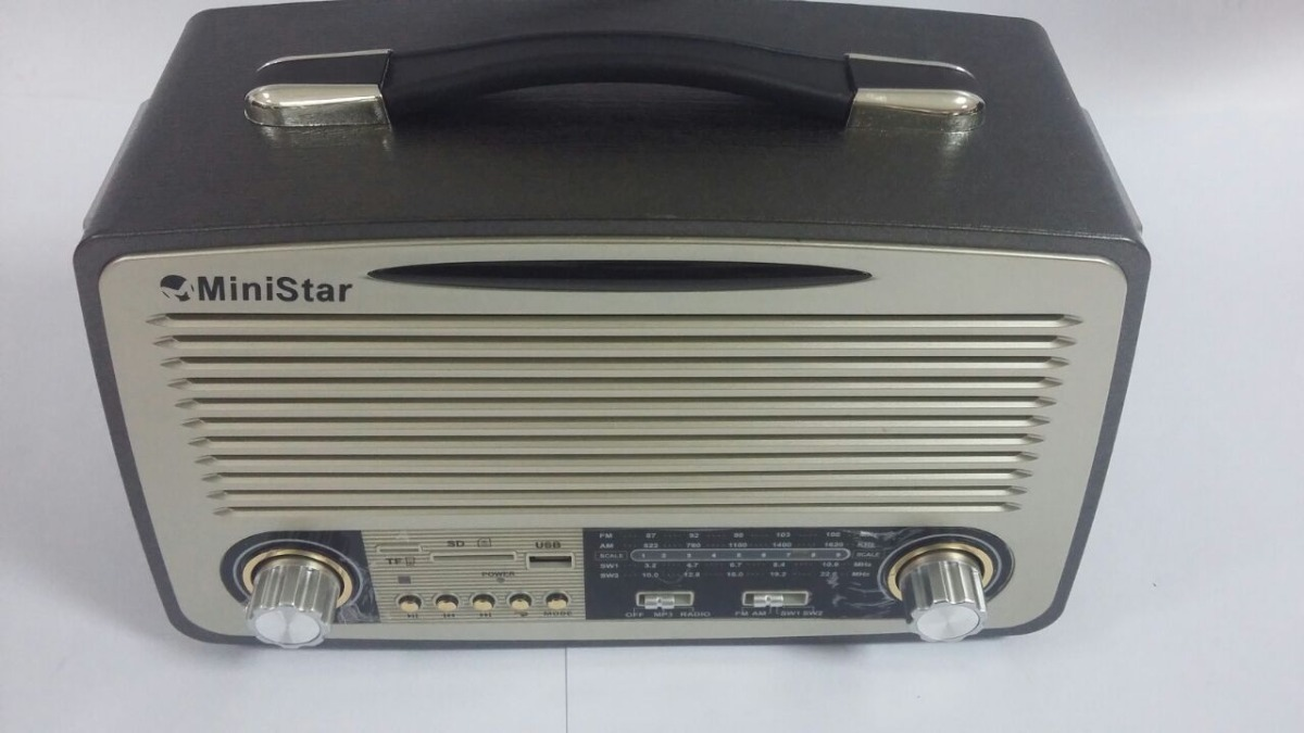 Rádio Retrô Ministar Ms-7001bt Bluetooth Usb Sd Am Fm