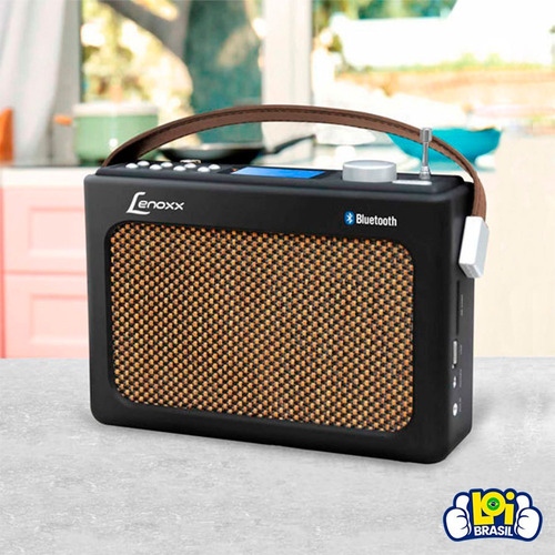 radio retro lenoxx bluetooth audio qualidade rb90 oferta loi