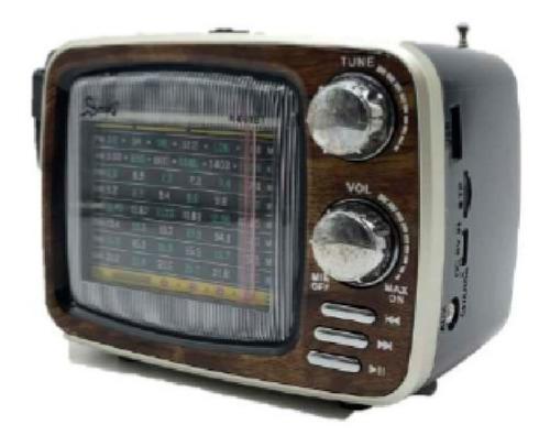 radio retro   parlante usb recargable  bluetooth  am/fm mp3