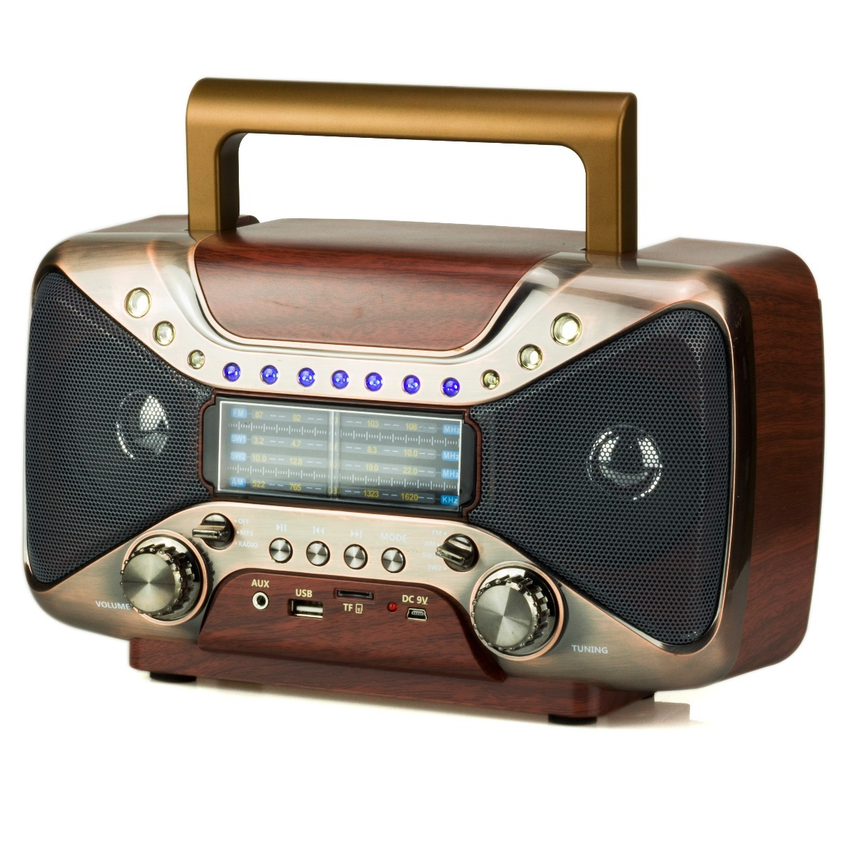 radio retro vintage bluetooth am fm usb antigo recarregavel r 179 55 em mercado livre. Black Bedroom Furniture Sets. Home Design Ideas