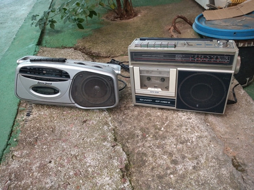 rádio sharp e lenox antigo