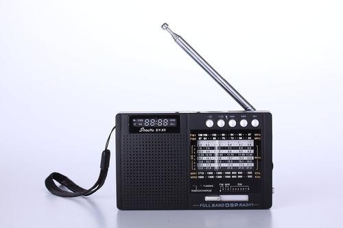 rádio shouyu sy-x5 am fm sw leitor mp3 preto frete grátis