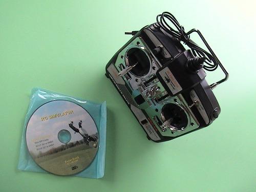 rádio simulador de vôo 6 canais usb r/c aeromodelismo