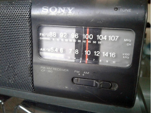 radio sony icf 380 am y fm funciona - leer todo