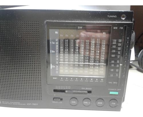radio sony icf sw 7601- 12 bandas made in japan exc. est.