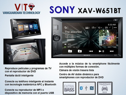 radio sony xav-w651bt