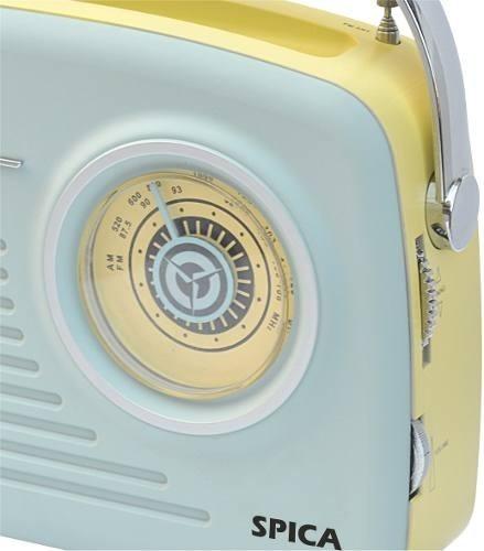 radio spica retro sp110 am fm bluetooth usb bateria full