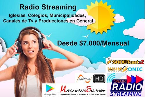 radio streaming desde $7.000 ms, zr 1.6.2 y app android